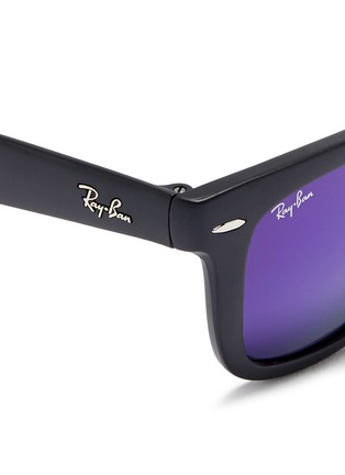 Detail View - Click To Enlarge - Ray-Ban - 'Wayfarer Folding Classic' acetate mirror sunglasses
