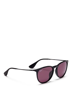 RAY-BAN 'Erika' acetate frame metal temple sunglasses