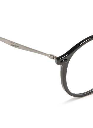 Detail View - Click To Enlarge - Ray-Ban - 'RB7073 Light Ray' titanium temple optical glasses