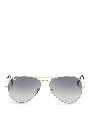 Main View - Click To Enlarge - Ray-Ban - 'Aviator Large Metal' gradient sunglasses