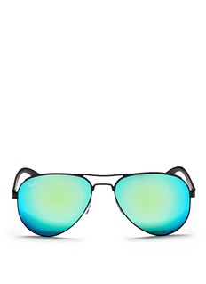 RAY-BAN 'RB3523' metal aviator mirror sunglases