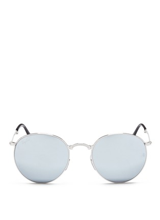 Main View - Click To Enlarge - Ray-Ban - 'RB3532 Folding Round' metal sunglasses