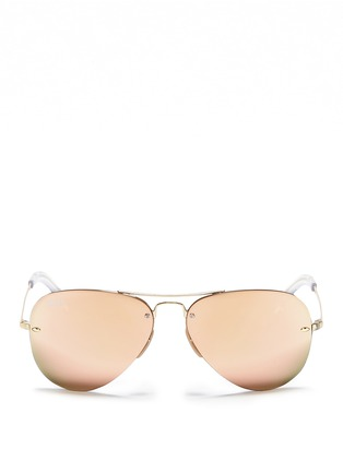 Main View - Click To Enlarge - Ray-Ban - Metal aviator mirror sunglasses