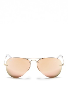 Ray-Ban Metal aviator mirror sunglasses
