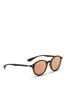 RAY-BAN 'RB4237 Liteforce' thermoplastic round mirror sunglasses