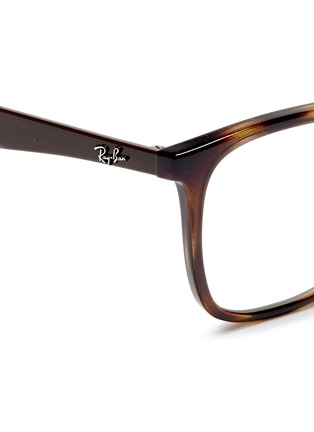 Detail View - Click To Enlarge - Ray-Ban - 'RB7066' tortoiseshell effect acetate optical glasses