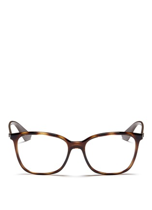 Main View - Click To Enlarge - Ray-Ban - 'RB7066' tortoiseshell effect acetate optical glasses