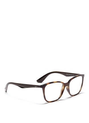 Figure View - Click To Enlarge - Ray-Ban - 'RB7066' tortoiseshell effect acetate optical glasses