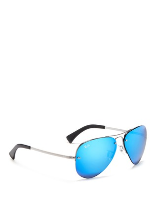 Figure View - Click To Enlarge - Ray-Ban - Metal aviator mirror sunglasses