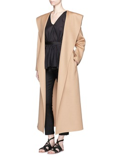 THE ROW 'Muna' wool melton belted wrap coat