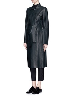 THE ROW 'Melka' flap pocket leather long coat