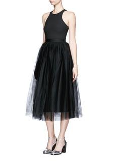 ELIZABETH AND JAMES'Aneko' layered tulle skirt dress