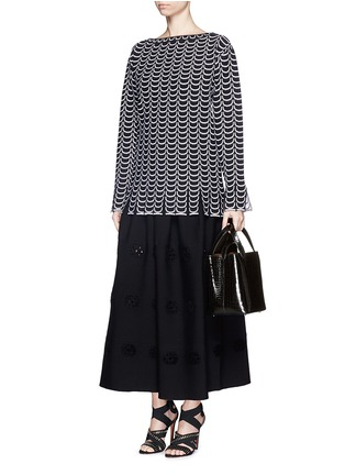 Figure View - Click To Enlarge - Alaïa - Croc embossed mini leather bucket tote