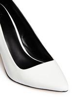 Wooden heel leather pumps