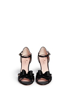 KATE SPADE 'Ivela' double bow satin sandals
