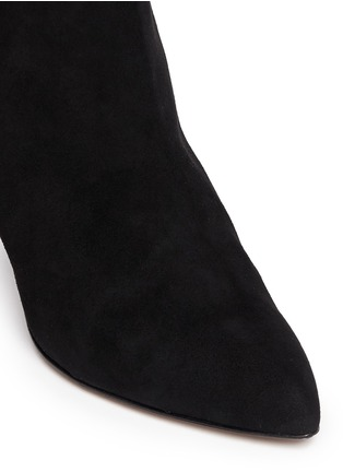 Detail View - Click To Enlarge - Kate Spade - 'Niko' coarse glitter heel suede ankle boots