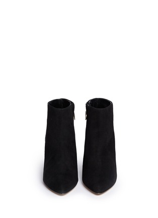 Figure View - Click To Enlarge - Kate Spade - 'Niko' coarse glitter heel suede ankle boots