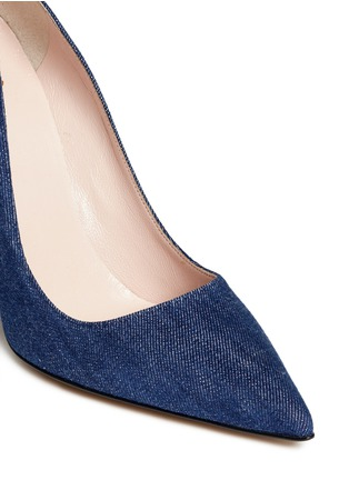 Detail View - Click To Enlarge - Kate Spade - 'Licorice' denim pumps
