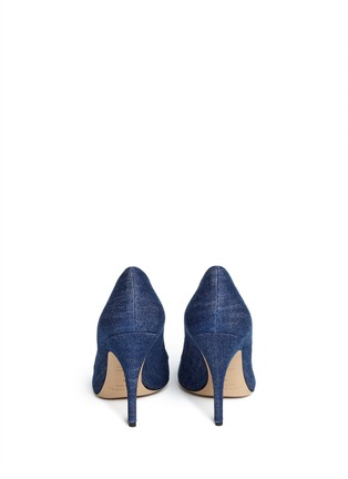 Back View - Click To Enlarge - Kate Spade - 'Licorice' denim pumps