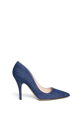 Main View - Click To Enlarge - Kate Spade - 'Licorice' denim pumps