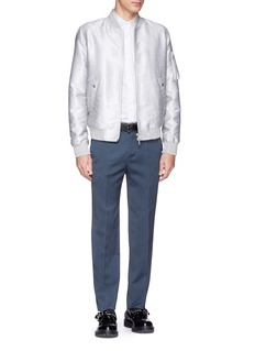Alexander McQueen Mini dot and skull jacquard sateen collar shirt
