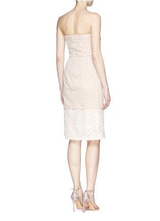 背面 - 点击放大 - ALEXANDER MCQUEEN - Floral lace bustier chiffon dress