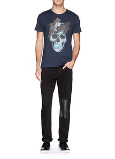 Alexander McQueen Feather skull print T-shirt