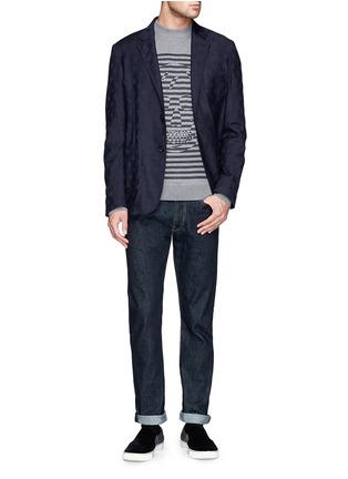 Alexander McQueen-Skull jacquard soft blazer