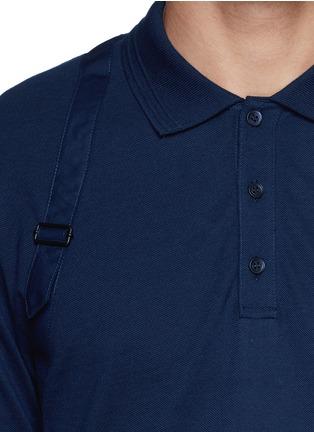 细节 - 点击放大 - ALEXANDER MCQUEEN - Poplin harness polo shirt