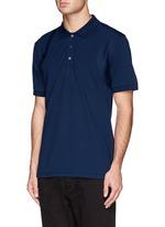 Poplin harness polo shirt