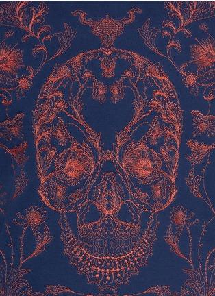 细节 - 点击放大 - ALEXANDER MCQUEEN - Floral skull embroidery sweatshirt
