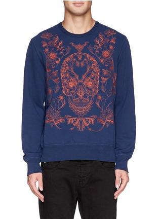 首图 - 点击放大 - ALEXANDER MCQUEEN - Floral skull embroidery sweatshirt