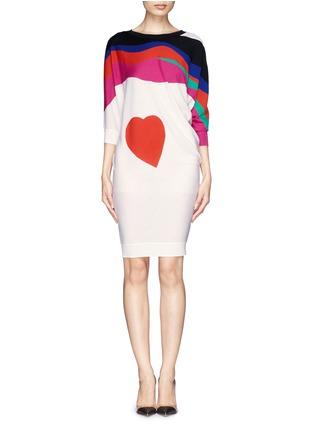 Alexander McQueen-Matisse heart motif knit tunic dress
