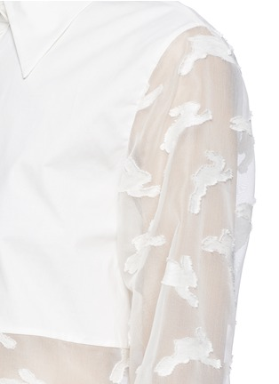 Detail View - Click To Enlarge - Chictopia - Cropped fil coupé bunny shirt