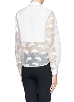 Back View - Click To Enlarge - Chictopia - Cropped fil coupé bunny shirt