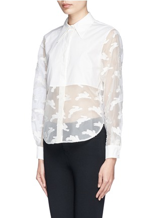 Front View - Click To Enlarge - Chictopia - Cropped fil coupé bunny shirt