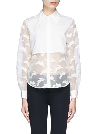 Chictopia-Cropped fil coupé bunny shirt