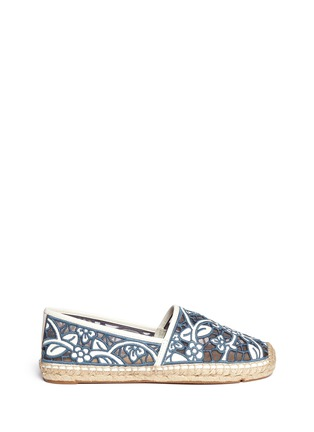 Main View - Click To Enlarge - Tory Burch - 'Lucia' lace espadrilles