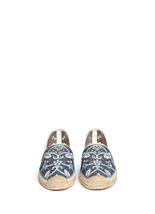 Figure View - Click To Enlarge - Tory Burch - 'Lucia' lace espadrilles