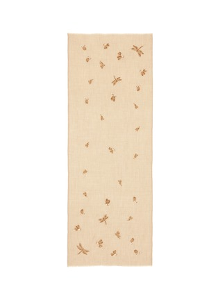 Main View - Click To Enlarge - Janavi - Dragonfly embellished cashmere scarf