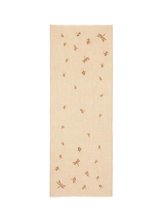 Janavi-Dragonfly embellished cashmere scarf