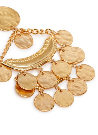 Detail View - Click To Enlarge - Kenneth Jay Lane - Coin charm gold plated chandelier earrings