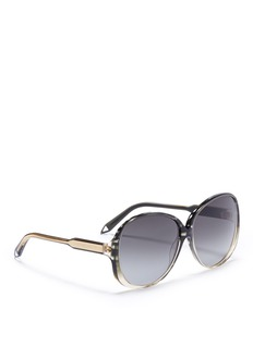 Victoria Beckham 'Large Fine Oval' oversized acetate gradient sunglasses