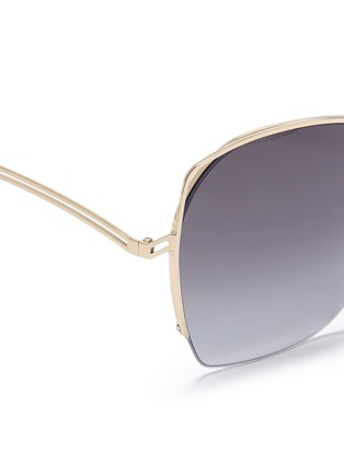 Detail View - Click To Enlarge - Victoria Beckham - 'Fine Wave' cutout metal temple sunglasses