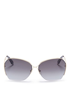 Victoria Beckham 'Fine Wave' cutout metal temple sunglasses