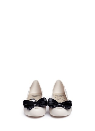 Front View - Click To Enlarge - Melissa - x Disney 'Ultragirl Minnie IV' polka dot bow flats