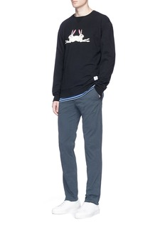 Kinfolk'Double Bunny' print cotton sweatshirt