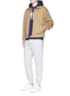 KinfolkLogo print cotton hoodie
