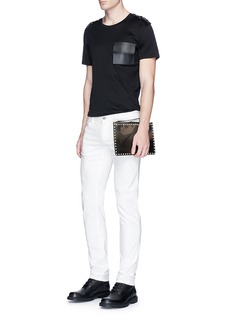 Valentino Leather patch pocket T-shirt