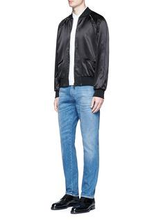 Valentino'Rockstud Untitled 14 Noir' satin souvenir jacket